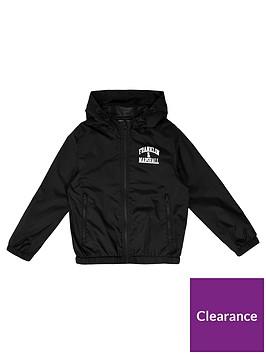 Franklin   Marshall Boys Fleece Lined Logo Windcheater Jacket ... d288743d24b