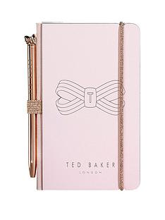 ted-baker-pink-bow-mini-notebook-and-pen
