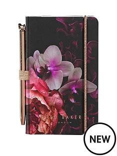 ted-baker-mini-notebook-and-pen-black-splendour