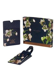 ted-baker-arboretum-print-luggage-tag-amp-passport-holder-set