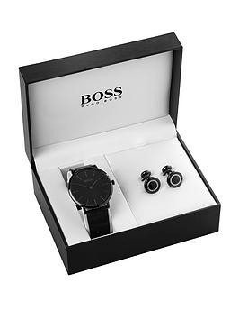 boss-dial-black-mesh-strap-mens-watch-and-cufflink-gift-set