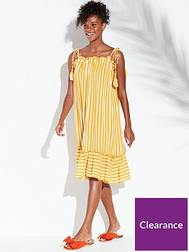 river-island-river-island-stripe-midi-beach-dress-yellow