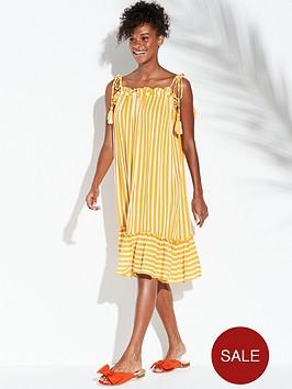 river-island-river-island-stripe-midi-beach-dress-yellow