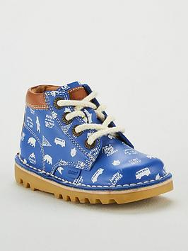 kickers-boys-kick-hi-print-boot-blue