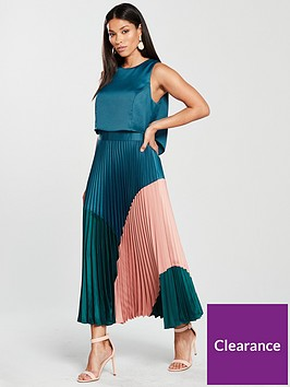 coast-lola-three-tone-pleated-dress--nbspmulti