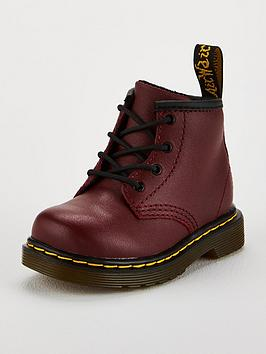 Dr Martens Dr Martens Infant 8 Lace Up Boots - Cherry Red Picture