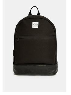 jack-wills-panelled-portburynbspbackpack-black