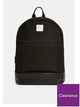 jack-wills-panelled-portburynbspbackpack-black