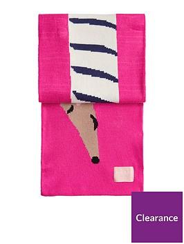 joules-girls-sausage-dog-scarf-pink