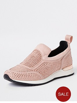 river-island-river-island-heatseal-lace-up-shoes-pink