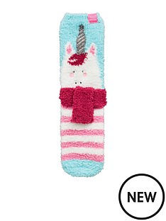 joules-girls-fluffy-unicorn-socks