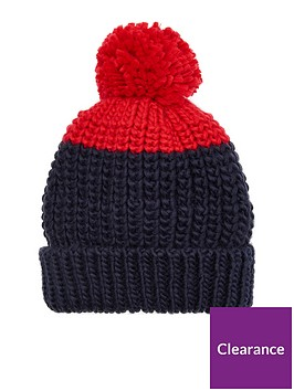 joules-boys-knitted-bobble-hat-navyred