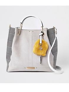 river-island-river-island-check-side-slouch-bag-grey