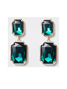 river-island-river-island-rectangle-stud-earrings-emerald