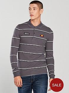 ellesse-maffio-stripe-long-sleeve-polo