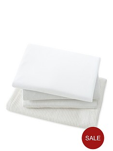 mothercare-mothercare-moses-basket-starter-set-2-fitted-jersey-sheets-jersery-blanket-amp-cellular-blanket