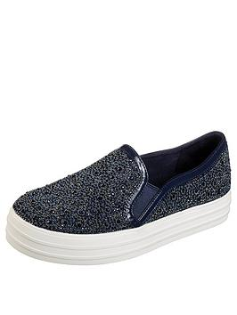 skechers-double-up-glitzy-gal-plimsoll-navy