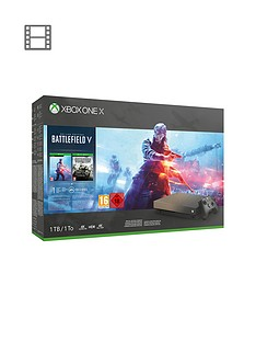 xbox-one-x-battlefield-v-gold-rush-special-edition-1tb-console-bundle-with-optional-extras