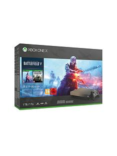 xbox-one-x-gold-rush-special-edition-battlefield-v-bundle-with-optional-extra-wireless-controller-andor-12-months-live-gold