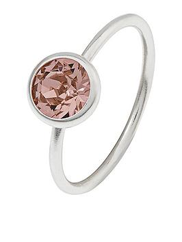 accessorize-sterling-silver-swarovski-solitaire-ring-silver