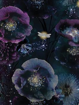 arthouse-nocturnal-purple-teal-wallpaper