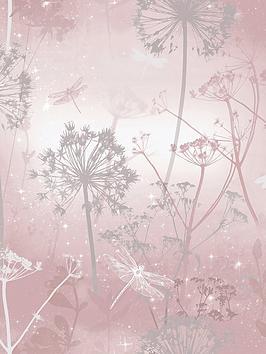 ARTHOUSE Arthouse Damselfly Blush Wallpaper Picture