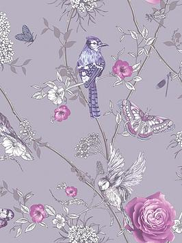 ARTHOUSE Arthouse Paradise Garden Lilac Wallpaper Picture