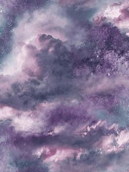 ARTHOUSE Arthouse Diamond Galaxy Purple Wallpaper Picture