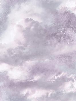 ARTHOUSE Arthouse Diamond Galaxy Lilac Wallpaper Picture