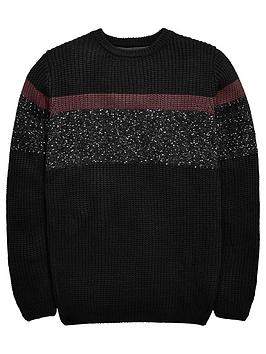 v-by-very-boys-colour-block-textured-chunky-knitted-jumper-multi-coloured