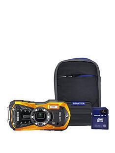 ricoh-wg-50-orange-wtprf-cameranbspwithnbsp16gbnbspsd-card-and-protective-bumper-case