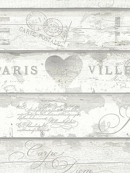ARTHOUSE Arthouse Shabby Chic Wood Neutral Wallpaper Picture
