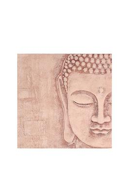 arthouse-soft-rose-gold-3d-buddha-wall-art