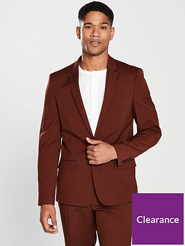 river-island-rust-stretch-skinny-fit-suit-jacket