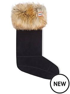 hunter-faux-fur-cuff-boot-sock