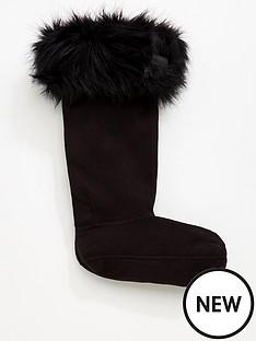 hunter-hunter-faux-fur-cuff-boot-sock