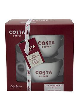 Costa   Coffee Cup And Saucer Set For Two