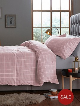 silentnight-windowpane-check-duvet-cover-set-in-blush-pink