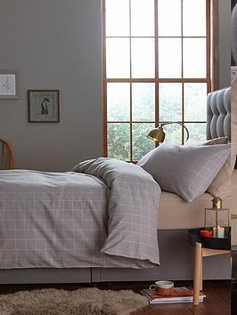 silentnight-brushed-cotton-window-pane-check-duvet-set