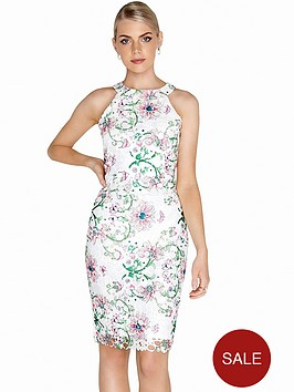 paper-dolls-racer-neck-bodycon-dress-floral-print