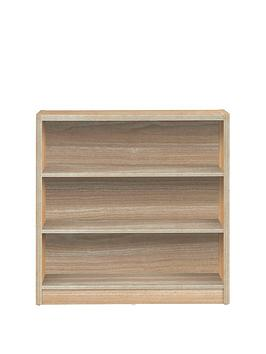 Very Metro Small Wide Bookcase - Oak Effect Picture