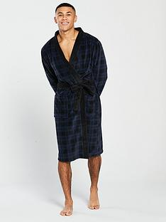 v-by-very-navy-check-robe