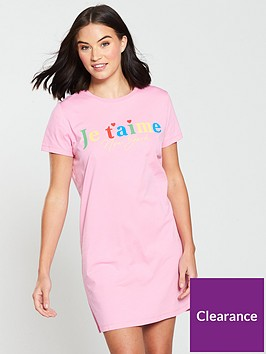 v-by-very-jaimenbspprinted-slogan-sleep-shirt-pink