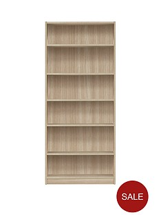 metro-tall-wide-bookcase-oak-effect