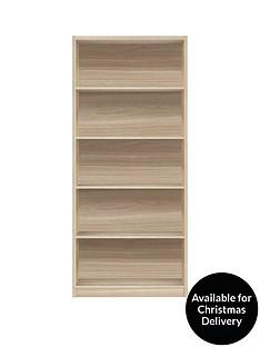 metro-tall-wide-extra-deep-bookcase-oak-effect