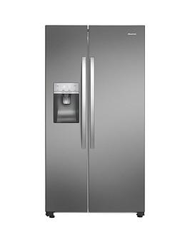 hisense-rs696n4ll1-91cmnbspwide-total-no-frost-american-style-fridge-freezer-stainless-steel-look
