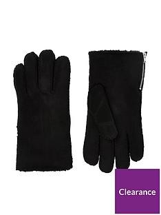 river-island-fauxnbspsuede-side-zip-gloves-black