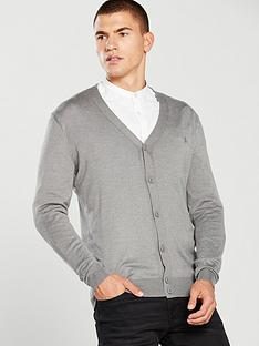 river-island-grey-v-neck-button-down-cardigan