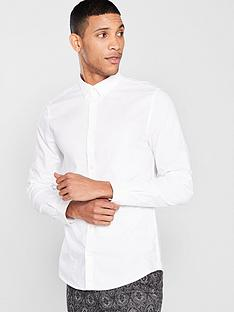 river-island-white-chest-embroidered-oxford-shirt