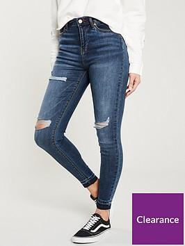 v-by-very-ella-high-waisted-ripped-knee-skinny-jean-dark-wash